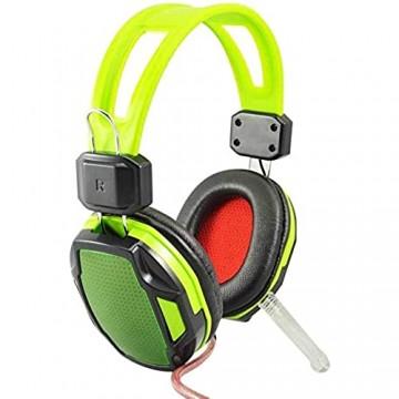 KK Timo Kopfhörer Wired-Surround-Sound-Spiel-Kopfhörer Mit Mikrofon Kopfhörer Mit HD-Rauschunterdrückung Mikrofon for CF-Gaming-Headset