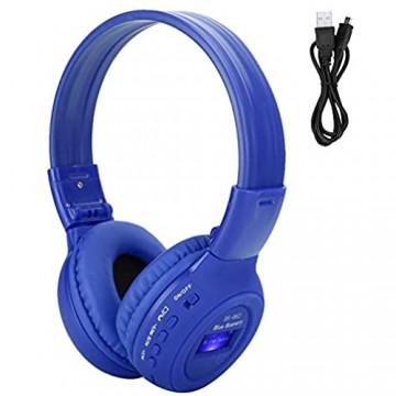 Rodipu High-Fidelity-Stereo-Surround-Super-Bass-Kopfhörer omnidirektionaler Mikrofon-Design-Kopfhörer drahtloses Bluetooth für zu Hause im Büro im Freien (Blue)