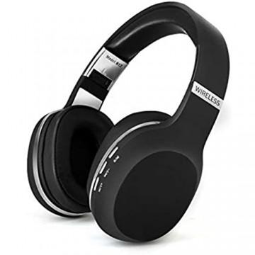 yaunli Gaming Headset Wireless Gaming Headset Tiefe Bass-Kopfhörer-Stereokopfhörer-Noise-Cancelling-Kopfhörer Stereo-Surround-Sound-Gaming-Headset (Farbe : Black Size : One Size)
