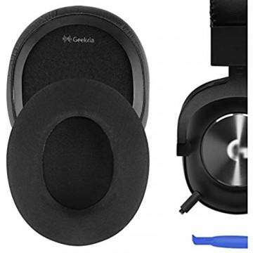 Geekria Sport Cooling Gel-Infused Cloth Ersatz-Ohrpolster für Kopfhörer Logítech G433 G233 Headphone Ohrpolster Earpads Repalcement