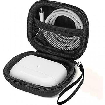 ProCase Eva Reiseetui für AirPods Pro/Jabra Elite 75t Hülle Hard Case Stoßfest Trage Tasche Earbuds Case Aufbewahrungshülle für Kopfhörer Ohrhörer -Schwarz