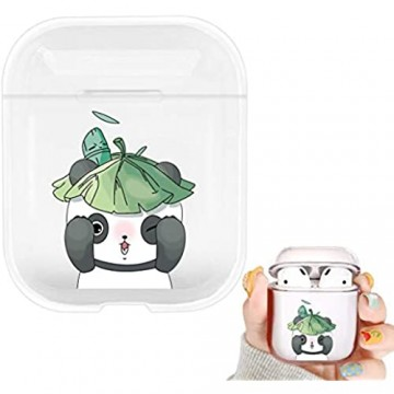 Ulife Mall - Hülle für Apple AirPods 1 & 2 Mädchen Jungs Kopfhörer Tasche Case Durchsichtig Transparent TPU Silikon Cover mit Karikatur Motiv Süß Cute Lustig Muster Stoßfest Schutzhülle 2# Panda