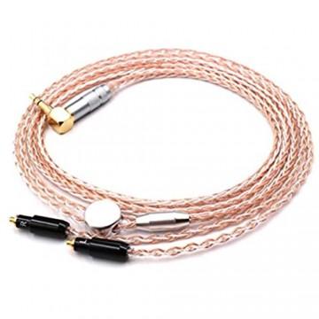 Micity Ersatzkabel für Shuer SRH1440 SRH1840 SRH1540 Kopfhörer/Upgrade Kabel/Kopfhörer-Verlängerungskabel 120cm Orange Weiß