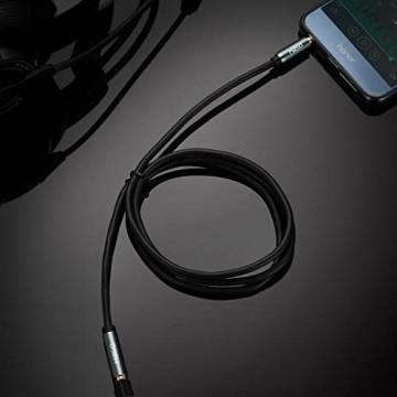 MillSO 3.5mm Stereo Klinken Verlängerungskabel 3.5mm Stecker auf Buchse für AUX Eingänge Auto Lautsprecher PC Tablet Smartphone und MP3 Player - 10 Meter