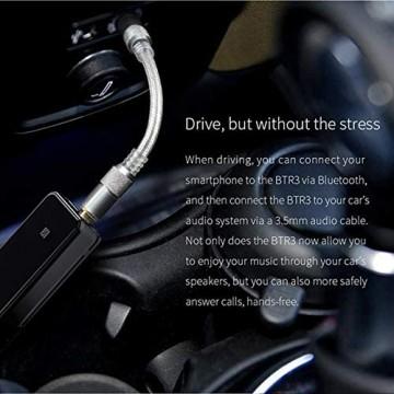 YaGFeng FiiO BTR3 Bluetooth-Empfänger Drahtloser 3 5-mm-Auto-Bluetooth-Zusatzadapter Für Lautsprecher Kopfhörer Tragbarer Bluetooth-USB-DAC-Verstärker Für iPhone/Android/PC