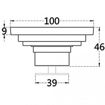 CCLLA Duschabflussabdeckung Badezimmer im europäischen Stil Retro Square 10 cm Bodenablauf Bronze Messing Deodorant Bodenablauf-Blume