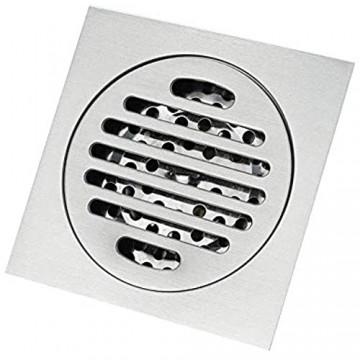 CCLLA Quadratischer Bodenablauf 4 Zoll Messingbodenablauffalle Duschbodenablaufabdeckung mit Siebabdeckung Rost Linearer Duschablauf Installation Abfallablaufabdeckung Wird für Duschraum Garage