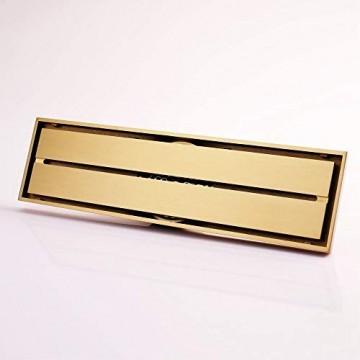 DYR Badezimmer Goldbodenablauf 100 * 100 mm quadratisch rund 80 * 300 mm Rechteck SquareGold
