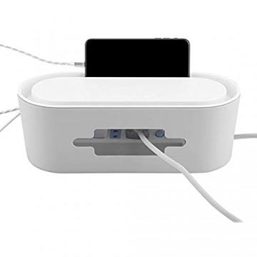 Raguso Kabelmanagement Weiß ausgehöhlte USB-Kabel für Drähte Bessere Sicherheit Steckdosenleisten(Gray)