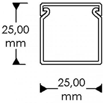 Habengut CC10118 L2525WS4 Kabelkanal Weiß
