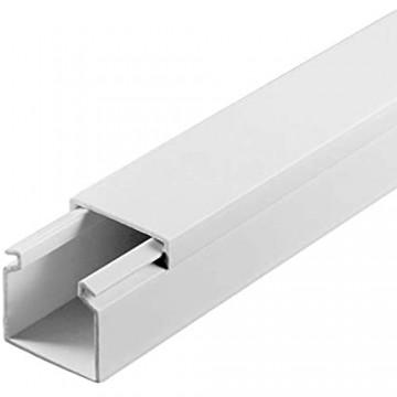 SCOS Smartcosat SCOSKK100 30 m Kabelkanal (L x B x H 2000 x 25 x 25 mm PVC Kabelleiste Selbstklebend) weiß