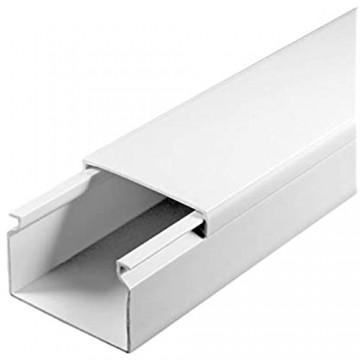 SCOS Smartcosat SCOSKK147 50 m Kabelkanal (L x B x H 2000 x 40 x 25 mm PVC Kabelleiste Schraubbar) weiß
