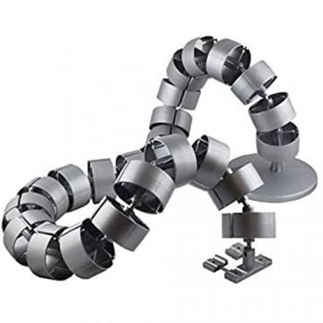 Kabelführung rund Kaba 2-4 Kabelkette silber Kabelschlauch Made in Germany von Oskar Lehmann (1200 mm)
