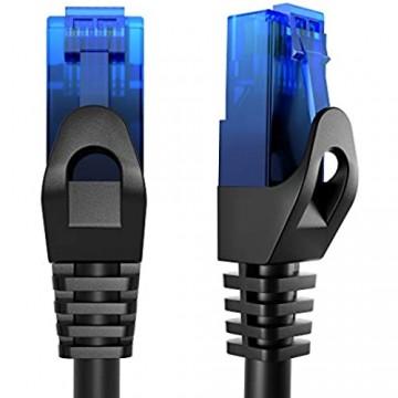 KabelDirekt – 5m – Netzwerkkabel Ethernet LAN & Patch Kabel (überträgt maximale Glasfaser Geschwindigkeit & ist geeignet für Gigabit Netzwerke Switches Router Modems mit RJ45 Eingang blau)