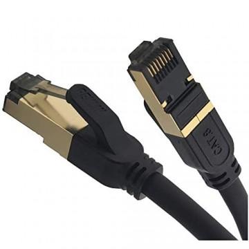 REULIN Ethernet Kabel Plug & Play Cat8 LAN Kabel TP 40G-2GHz RJ45 Netzwerkkabel So verbinden Sie den Modem Router Hub mit Smart Tv Ethernet Splitter Gigabit Switch Gaming Für Zuhause/Büro (2.5M)