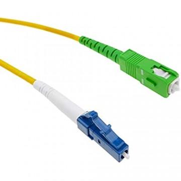 BeMatik - LWL Kabel LC/UPC zu SC/APC Monomode Simplex 9/125 3 m
