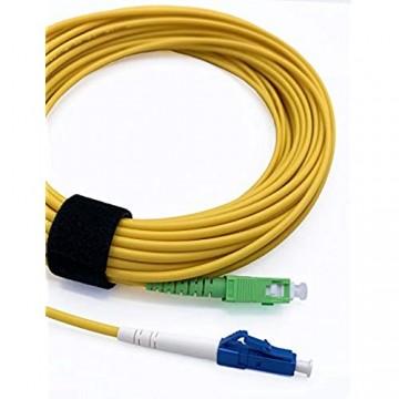 Elfcam Glasfaserkabel SC/APC auf LC/UPC Simplex Singlemode 9/125 µm LWL Kabel LSZH (30M)