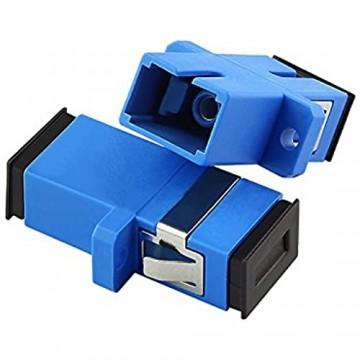 Jeirdus 10 Stück OS1 OS2 SC/SC SC auf SC Simplex Glasfaserkoppler Buchse auf Buchse Einzelmodus SC-SC Faserkoppler-Adapter 10 Stück