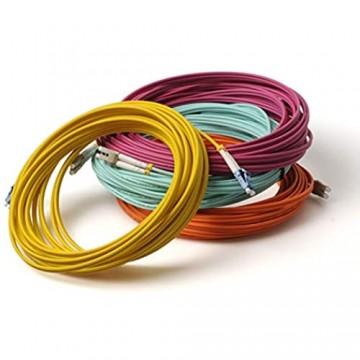 LWL Glasfaser-Kabel – 2m OS2 gelb SC/APC-SC/APC Stecker Duplex 9/125 Patchkabel – Lichtwellenleiter 2 Meter