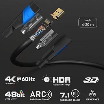 KabelDirekt – 15 m – 4K HDMI-Kabel (4K@60 Hz – spektakuläres Ultra-HD-Erlebnis – High Speed mit Ethernet kompatibel mit HDMI 2.0/1.4 Blu-ray/PS4/PS5/Xbox Series X/Switch schwarz)
