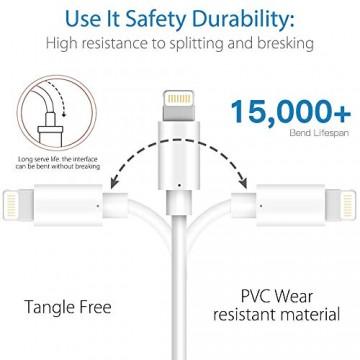 Marchpower Lightning Kabel [Apple MFi Zertifiziert] iPhone Ladekabel 3 Stück 1M 2M 3M für Apple iPhone SE 2020 iPhone 11 iPhone X/XS/XS MAX/XR iPhone 8/8P/7/7P iPhone 6/6S/5S SE iPad - weiß