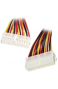 R28 30cm Stromkabel 24 pin Verlängerung PC ATX 24 pin Stecker auf 24 pin Buchse verlängert den 24Pin Stromkabel um 30cm 24Pin Stecker auf 24Pin Buchse