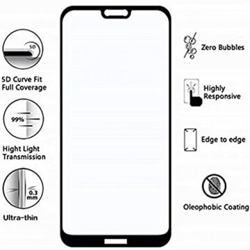 FHXD Kompatibel mit Xiaomi Mi 10 Hülle Ultradünne Stofftexturmuster Handytasche+1*Displayschutzfolie Stoßfest Anti-Kratzer 360° Drehringhalterung Schutzhülle-Blau