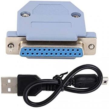USB-zu-Parallel-Schnittstelle nützlicher zuverlässiger Betrieb Stabiler Adapter Hochgeschwindigkeitsadapter Langlebig Praktisch für Mach3-Standard-Parallelanschluss Mach3 UC100