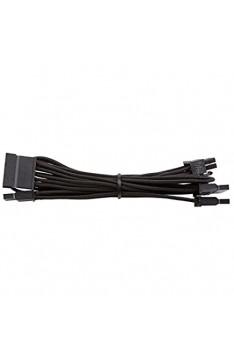 """Corsair CP-8920186 Premium Sleeved """"RMi- RMx - SF und Typ4 (Generation 3)-Serie"""" Netzteil SATA-Kabel schwarz"""