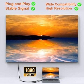 TSUPY DisplayPort VGA Adapter mit Vergoldetem Stecker Displayport auf VGA Displayport zu VGA auf Displayport VGA Displayport Adapter für Computer Bildschirm Projektor usw.