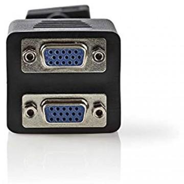 Valueline VGA Splitterkabel VGA Male - 2X VGA Female 0 20m - Zwart