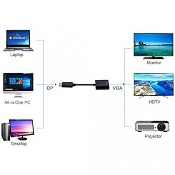 YOUBO DP zu VGA Video Adapter 1080P Thunderbolt männlich Display Port auf VGA Buchse Kabel Displayport auf VGA DLLE Adapter DP