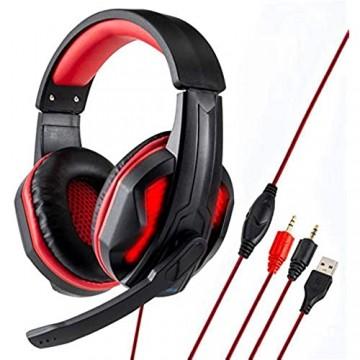 Bluetooth-Kopfhörer Over Ear PS4 Gaming-Kopfhörer mit Mikrofon 3.5mm verdrahteten In-Ear Noise-Cancelling Mikrofon Lautstärkeregler for Mac & PC Xbox-one PC Handy Fernseher