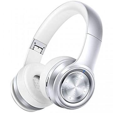 GAONAH Bluetooth-Kopfhörer Wireless 10 M Reichweite Eingebautes Mikrofon Kabelgebundener Modus Für TV/PC/Handys Silver