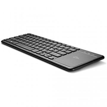 CSL Computer 2-in-1 Mini Wireless Tastatur mit Touchpad - QWERTZ-Tastaturlayout USB-Nanoempfänger Ultraleicht kompatibel mit Windows 10