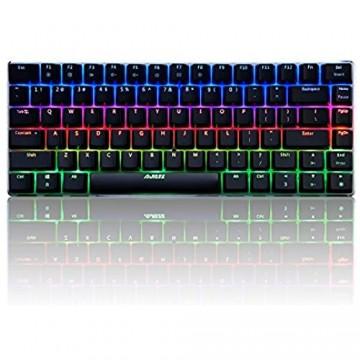 Docooler AJAZZ AK33 Mechanische Tastatur/Keyclick Gaming E-Sport LED Bunte Tastatur 82 Tasten USB Verdrahtete Anti-Ghosting für PC Notebook Laptop Desktop(QWERTY-Layout )