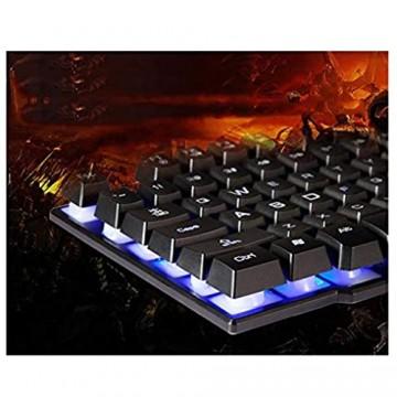 LXFTK Tastatur und Maus Set Tastatur Gewöhnliche Tastatur Maus Tastatur Computer Gaming Tastatur Ultradünnes Design Leichte Tastatur
