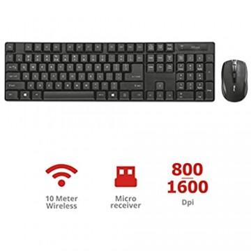 Trust 21133 Ximo Funk Tastatur/Maus schwarz