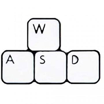 TZZD Mode Cartoon Pixel Cursor Broschen PS Pr AI Photoshop Toolbar Tastatur Sanduhr Computer-Maus-Zeiger Hand Pfeil Emaille Pin (Größe : 01)