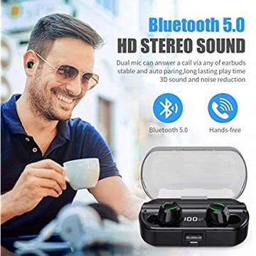Bluetooth Kopfhörer Kabellos 【2020 Neuestes Intelligent Steuerung-T23】Kabellos Kopfhörer in Ear Sport Ohrhörer mit 120 Stunden Spielzeit mit Mikrofon und Ladekästchen für iPhone Android