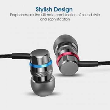 Oriver 3.5mm In-Ear kopfhörer mit Kabel HiFi Stereo Ohrhörer Geräuschisolierung Headset Verwicklungsfreie Kabel für MP3-Player Walkman iPod (No Mikrofon)