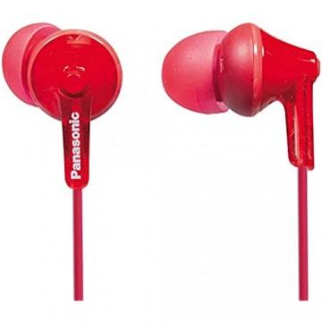 Panasonic RP-HJE125E-R In-Ohr-Kopfhörer (Drei Paar Pass-Stücke 10-24.000 Hz 1 1 m Kabel) rot