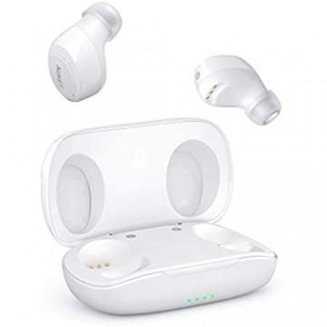 AUKEY Bluetooth Kopfhörer 5 Kabellos In Ear Ohrhörer HiFi-Stereo Sport Headset mit IPX5 Wasserdicht Berührungssteuerung und Automatisches Paring Geräuschreduzierung mit Integriertem Mikrofon