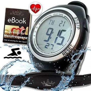 bestbeans Heartbeat Puls-Uhr mit Brustgurt Herzfrequenz-Messung & Fitnesstudios ANT Trainingsbereich Kalorienverbrauch Fettverbrennung Sportuhr Wasserdicht
